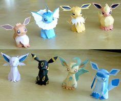 Pokemon Papercraft: Eevee Evolutions | Tektonten Papercraft