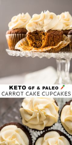 If you've been dreaming of low carb cupcakes, then you've come to the right place! These are 23 best low carb keto cupcake recipes, perfect for snacking! Low Carb Cupcakes, Paleo Cupcakes, Low Carb Sweets, Low Carb Desserts, Low Carb Recipes, Diabetic Desserts, Diabetic Recipes, Keto Cookies, Cupcake Recipes