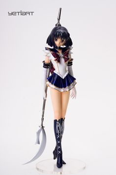 Sailor Saturn with Blade Sailor Moon Hand Painted Resin Model Yetiart Figure