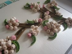 Cherry Blossoms - quilled