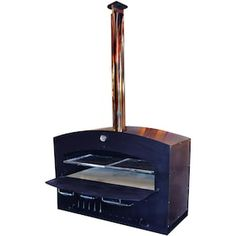 Outdoor Pizza Ovens : BBQGuys Wood Fired Oven, Wood Fired Pizza, Pizza Oven Outdoor, Stainless Steel Grill, Cooking Temperatures, Fire Cooking, Basic Kitchen, Outdoor Carpet, Outdoor Kitchen Design