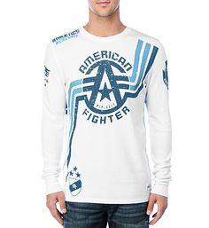 Men's Tops | American Fighter American Fighter, Graphic Sweatshirt, T Shirt, Exploring, Camo, Mens Fashion, Sweatshirts, Long Sleeve, Sleeves
