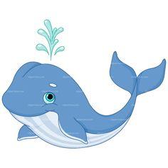 CLIPART WHALE Royalty free vector design Cartoon whale Clip art Plastic canvas patterns