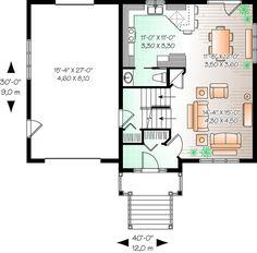 Floor plan under 1900, remove garage