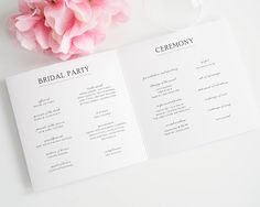 Simple Elegance Wedding Programs - Wedding Programs by Shine