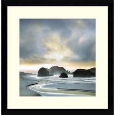 Framed Art Print 'Morning Breaking' by William Vanscoy 17 x 17-inch
