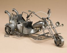 Handcrafted Metal Art Motorcycle (ma350)
