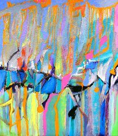 """Avalanche""  Acrylic on canvas  39x28""  by Abol Bahadori  Contact abol@abolart.com for price"