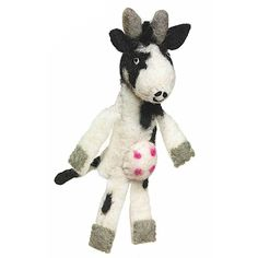 Woolie Finger Puppet - Cow - Wild Woolies (T). Handmade felt finger puppet doubles as an ornament are the creation of skilled artisans working in a fair trade production center in Kathmandu, Nepal. Artisans use 100% natural wool and non-toxic, azo-free dyes. 5.75 inches in size. The best educational toddler toys for boys girls. Cool must have popular learning toys ideas for new born. Creative natural smart kids. Cute soft classic games products gifts ideas