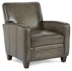 Addin Leather Club Chair, Gunmetal