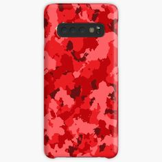 'Red Camouflage design' Case/Skin for Samsung Galaxy by MidnightBrain Cell Phone Cases, Iphone Cases, Semi Transparent, Canvas Prints, Art Prints, Design Case, Iphone Wallet, Camouflage, Comforters