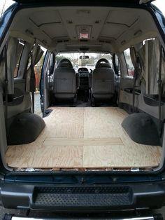 Mitsubishi Delica l400 sub floor. Before vinyl flooring.