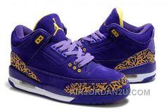 http://www.airjordan2u.com/womens-nike-air-jordan-3-shoes-dark-purple-yellow-white-online.html WOMEN'S NIKE AIR JORDAN 3 SHOES DARK PURPLE/YELLOW/WHITE ONLINE Only $85.00 , Free Shipping!