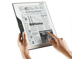 The future of publishing: Digital vs. Paper    E Newspaper device