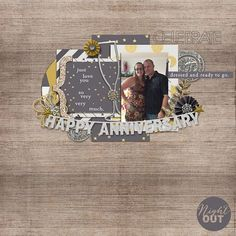 Black Tie Kit from peppermintcreative.com | page by @mummytofive #newyears #digiscrap #layouts
