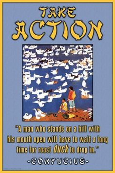 Take Action 28x42 Giclee on Canvas