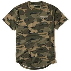 Hollister Camo Logo Graphic Tee (24 CAD) ❤ liked on Polyvore featuring men's fashion, men's clothing, men's shirts, men's t-shirts, olive pattern, mens crew neck t shirts, j crew mens shirts, mens patterned t shirts, mens camouflage shirts and mens leopard print t shirt