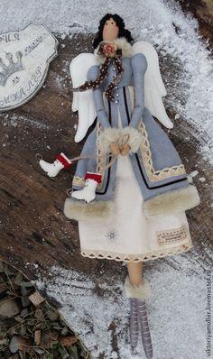 купить тильду кукла тильда винтажный ангел зимний ангел новогодний подарок новый год 2015 новогодний декор новогоднее украшение