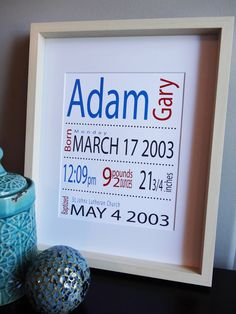 Personalized Childs Print Gift for New Baby or by MDesignCompany.  etsy.com/shop/MDesignCompany