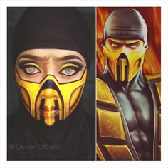01.01.15 my first makeup look this year.  Inspired by Scorpion from Mortal Kombat.  Requested by: @ifidosaysomyself87