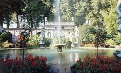 garden in Lucca about 30 miles west of Florence, Italy!