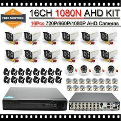 New Arrival CCTV System 16 CH AHD DVR Kit with Waterproof IR Bullet Camera AHD 720P Surveillance Kit
