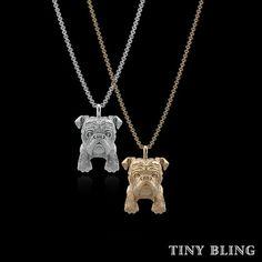 English Bulldog Breed Jewelry Puppy Face Charm