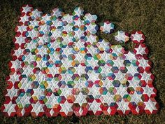 english paper piecing quilt.  The link didn't work, but at least I can look up the name of the quilt and find the pattern.