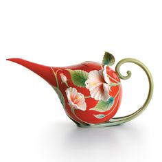 franz island beauty hibiscus teapot
