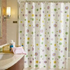 2016 Bathroom Shell Starfish Waterproof Proof Shower Curtain With 12pcs Curtain Hooks Rings 180cm*180/200cm