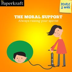 #Funny #Jobs #PeopleAtWork #Colleagues #work The moral support. Work getting you down? Enter the moral support!