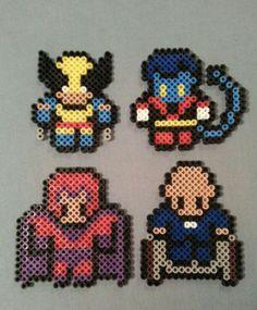 Hama/perler beads- X-men themed