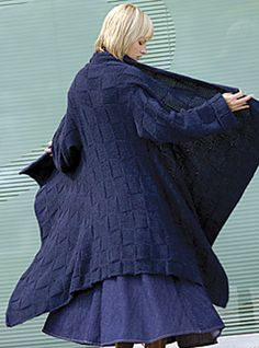 Blanket Coat pattern - for the days when the office is just plain chilly.