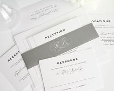Gray Wedding Invitations - http://www.shineweddinginvitations.com/wedding-invitations/classic-vintage-wedding-invitations