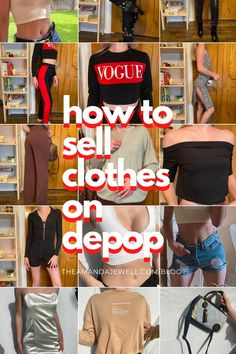 """In this blog post I tell you guys how you can make some side cash from selling your clothes on Depop! #Depop is a reselling app that allows you to have a """"shop"""" of items you want to sell! I go into how to make your account, pro tips, how to get good pictures, Hashtags to use, and how to get followers! #Depop #sidecash #sidehustle How To Sell Clothes, Clothes For Sale, Depop Tips, Online Garage Sale, Resale Clothing, Where To Sell, How To Get Followers, Clothes Pictures, Business Planner"""