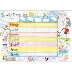 Family Organiser Pad - 52 pages - at just £4.50  www.susanscards.co.uk