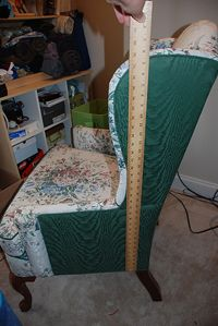 Wingback Chair Cover Tutorial; tons of pictures; This is Part One of maevedragon's tutorials about the entire chair slipcover process.