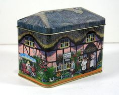 Vintage Tin - Rose Cottage B&B, Silver Crane Company, Made in England
