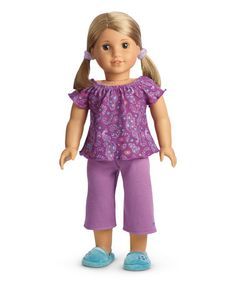 Another great find on #zulily! Purple Peacock Doll Pajama Set #zulilyfinds Lots of great #AmericanGirl items!