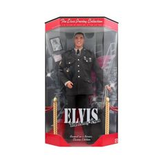 "The Elvis Presley Collection ""The Army Years"" Classic Edition Doll Mattel. Collectible Elvis figure."