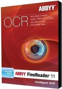 ABBYY FINEREADER 11 CORP - 3 CONCURRENT SEATS (WIN XPVISTAWIN 7) by ABBYY. $845.81. Transforming Data Into Actionable Information FastABBYY FineReader 11 OCR software turns scans PDFs and digital photographs into searchable and editable formats including Microsoft Word Excel PDF and popular E-book formats. Unmatched recognition and conversion capabilities virtually eliminate retyping or reformatting delivering fast results in up to 189 languages in any language bination. Offer...