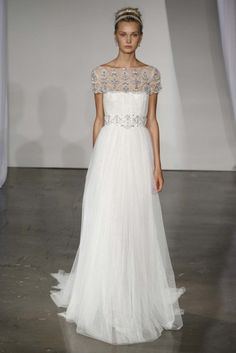 White, flowy #wedding #dress