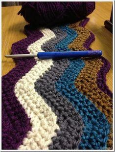 Tutorial, video and pattern:) For Ripple Crochet blanket: