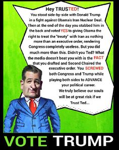 Trust Ted, no thank you!
