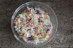 Greek Yogurt Coleslaw Recipe {www.TwoHealthyKitchens.com}