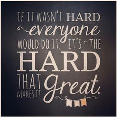 Hard work =  great success