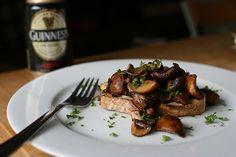 Guinness Mushrooms on Toast by @Monica Shaw