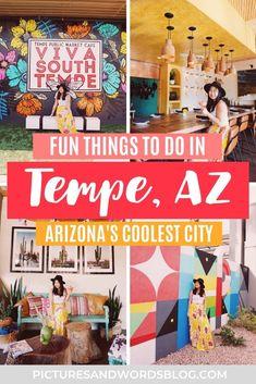 Tempe Arizona, State Of Arizona, Arizona Road Trip, Arizona Travel, Travel Guides, Travel Tips, Travel Destinations, Usa Travel, Solo Travel