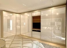 Home Decoration For Living Room Key: 3148031985 Wardrobe Design Bedroom, Bedroom Bed Design, Tv In Bedroom, Bedroom Furniture Design, Closet Bedroom, Bedroom Decor, Style At Home, Bedroom Cupboards, Closet Designs