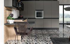 Cucina angolare moderna - Composizione 0556 - Vista laterale